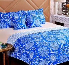 Turu Cotton Bedding And Quilt Set Of 5:Ming
