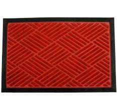 SWHF PP Embossed Rubber Door And Floor Mat : Red Diamond