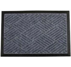SWHF PP Embossed Rubber Door And Floor Mat : Grey Diamond