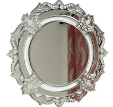 Engraved Border Round Venetien Mirror