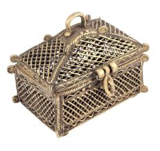 Bronze Rectangular Dhokra Art Jewellery Box