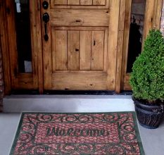 SWHF Panama Welcome Coir Mat Dyed Grey: Large