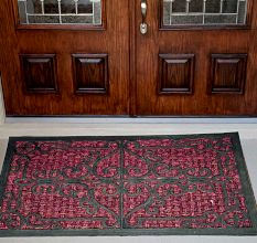 SWHF Panama Iron Gate Coir Mat Dyed Red: Large