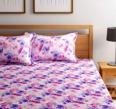Bombay Dyeing 180 TC Cotton Double Bedsheet: Floral