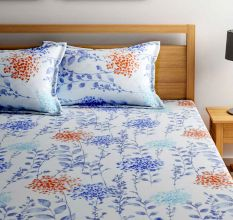 Bombay Dyeing 180 TC Cotton Double Bedsheet Floral