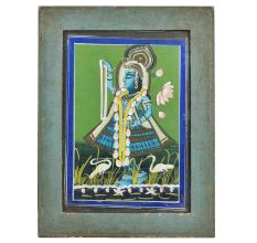 Jamunaji Welcoming Lord Krishna Miniature Painting With Frame