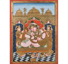 Darbar Krishna Tanjore Paintings With Frame