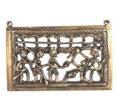 Bronze Tribal Art Wall Hanging Consisting of 5 Tribal People