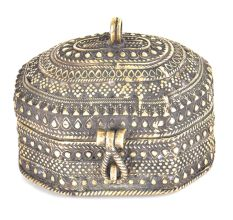 Brass Engraved Jewelry Box Dhokra Art