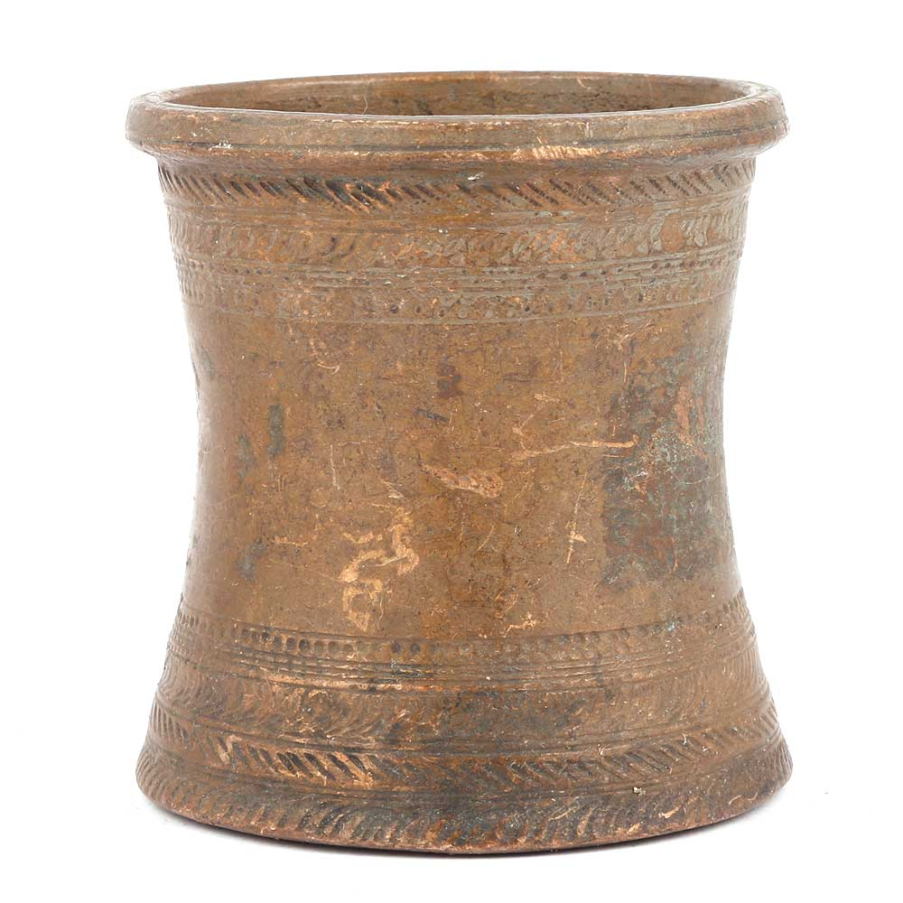 Bronze Measuring Cup Of An Hour Glass Shape