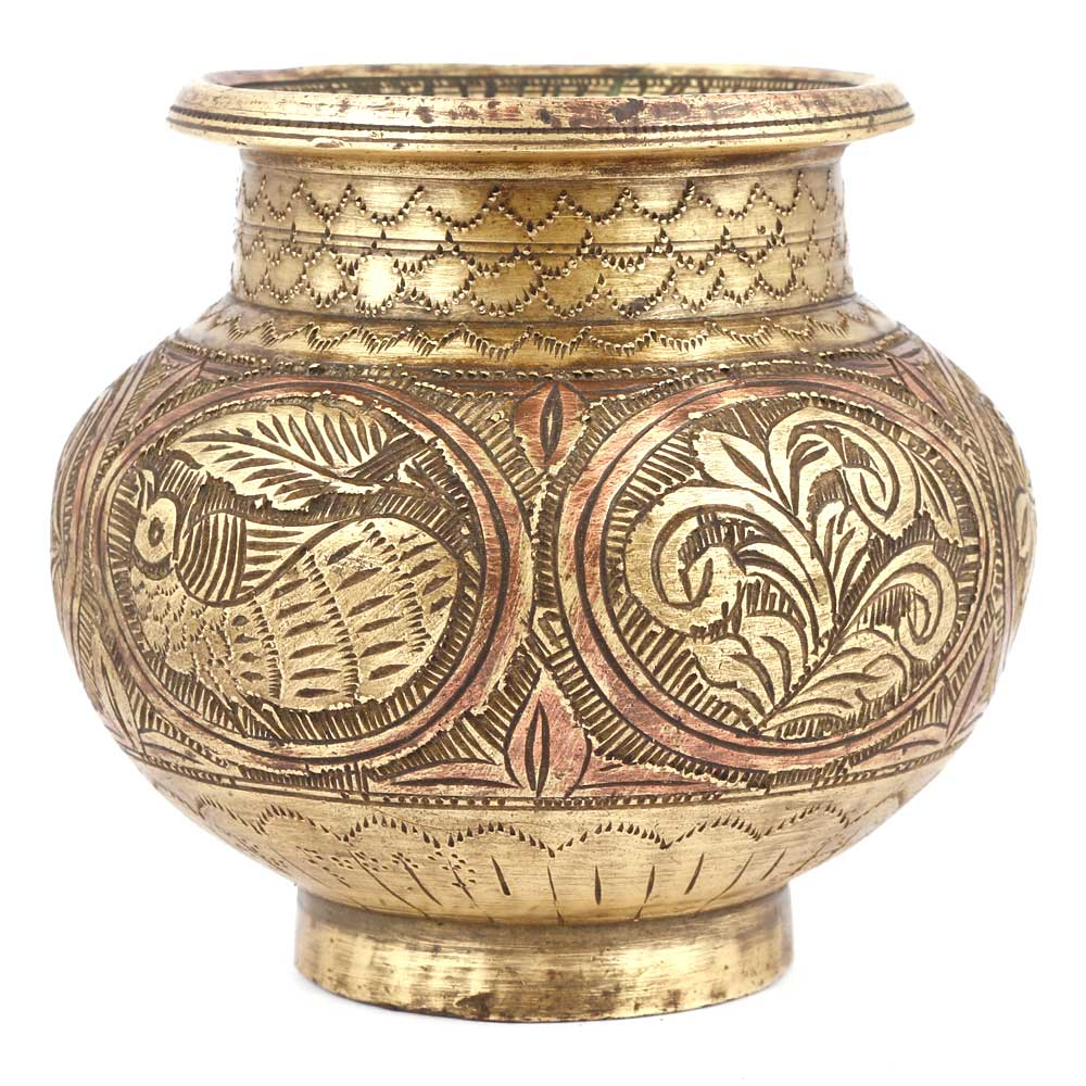 Bronze Pot With Very Fine And Detailed Engraving