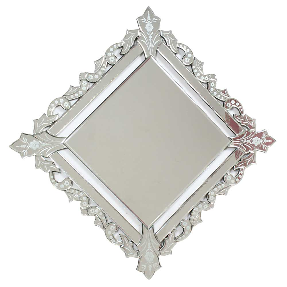 Square Venetian Glass Wall Mirror