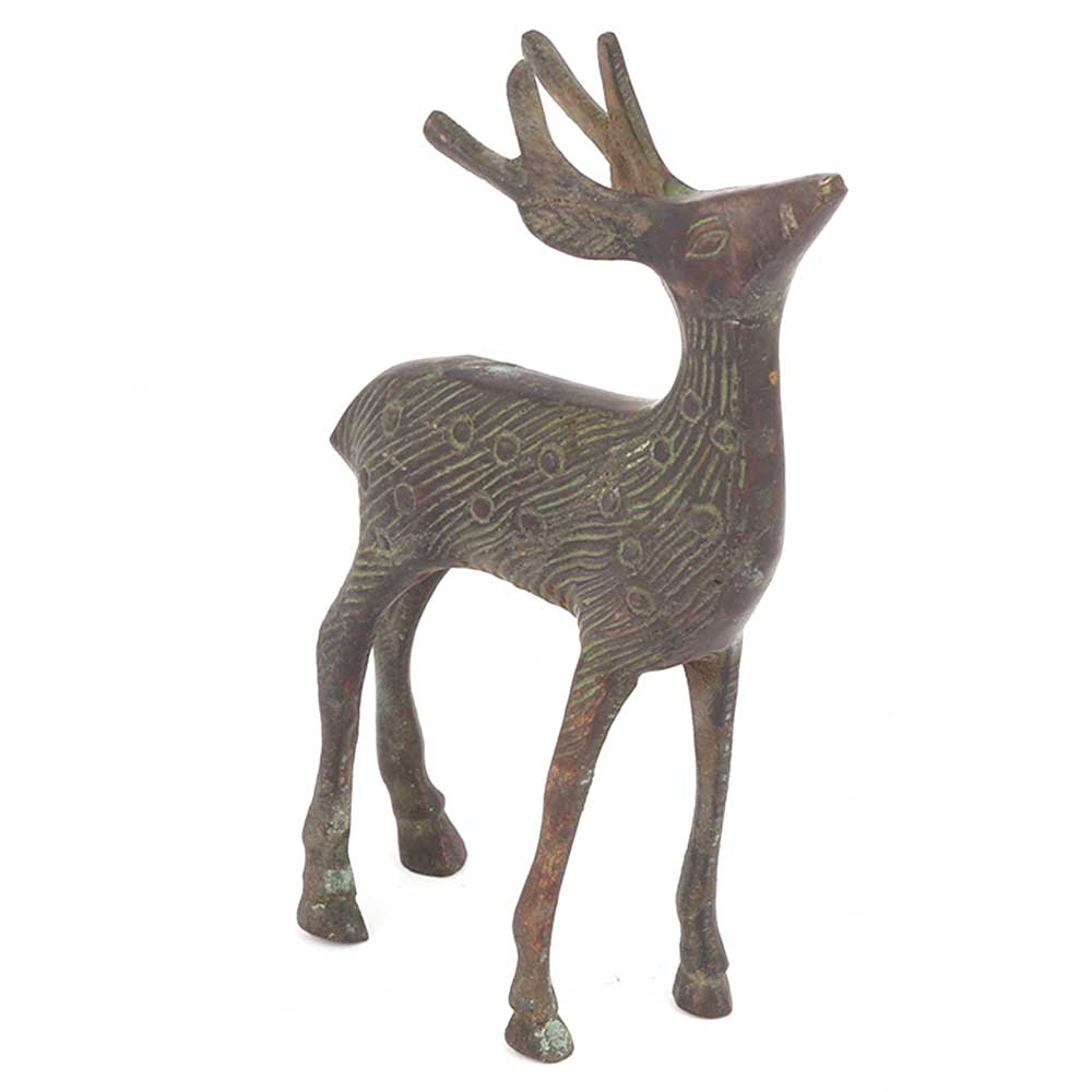Bronze Antelope Figurine