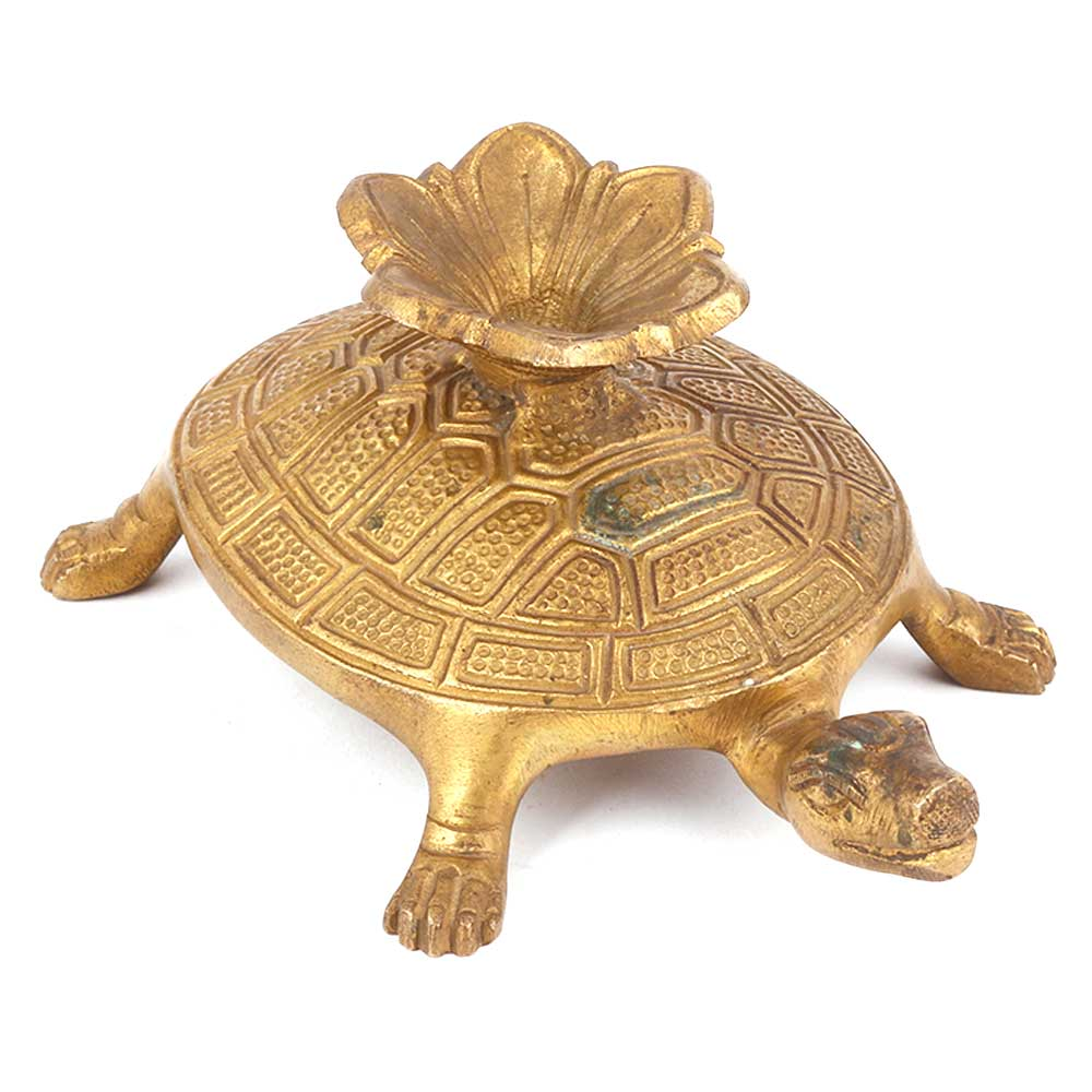 Bronze Tortoise Candle Holder