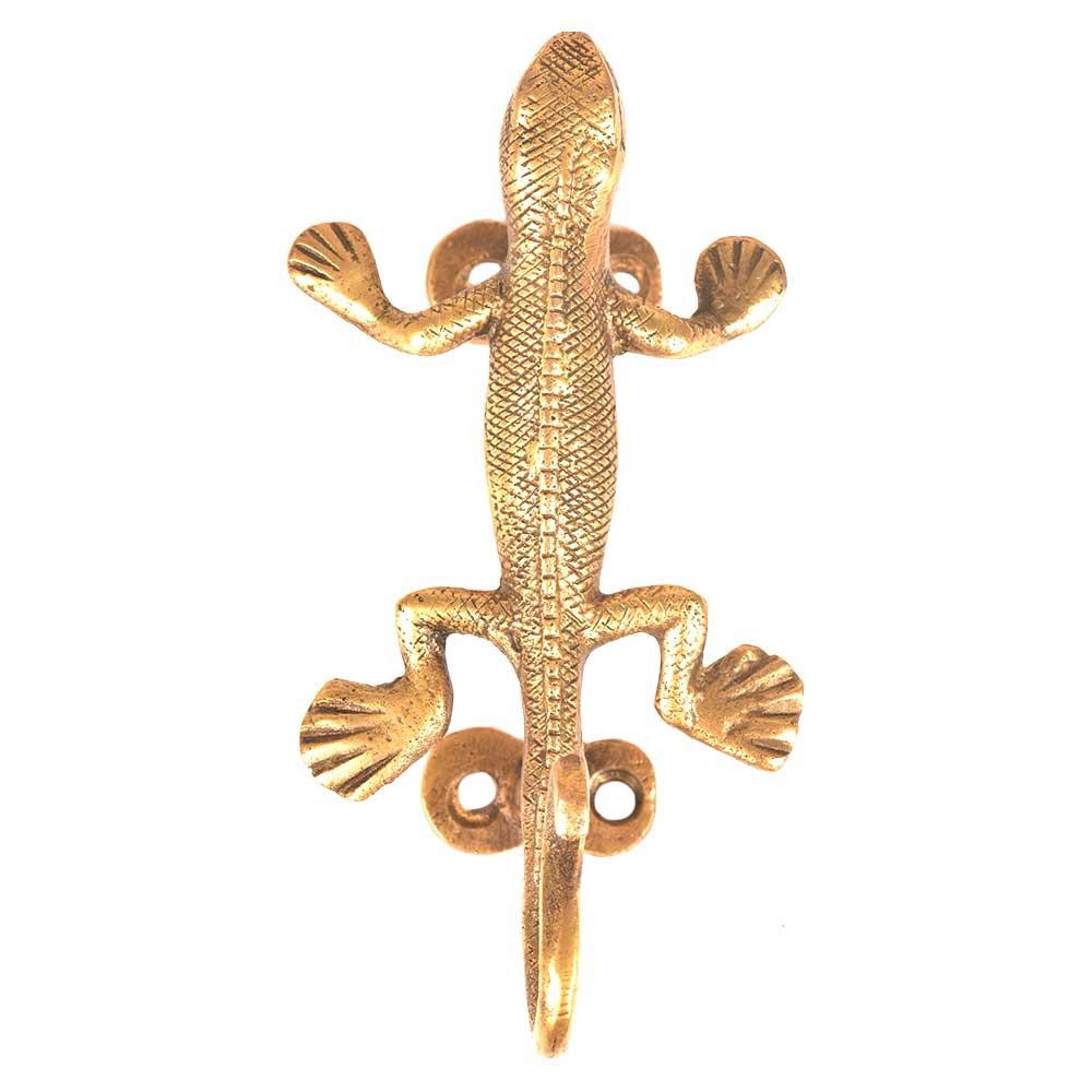 Brass Lizard Door Handle and Wall Hook