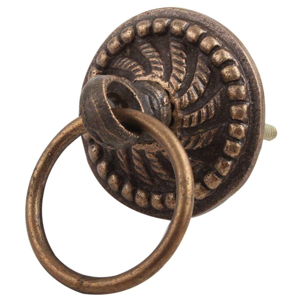 Antique Wheel Floral Metal Dresser Knob Online