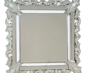 Square Venetian Glass Wall Mirror