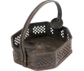 Bronze Puja Basket Patinated