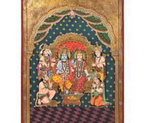 Ram Darbar Tanjore Painting In Frame