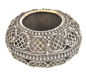 Bronze Circular Jali Design Ashtray