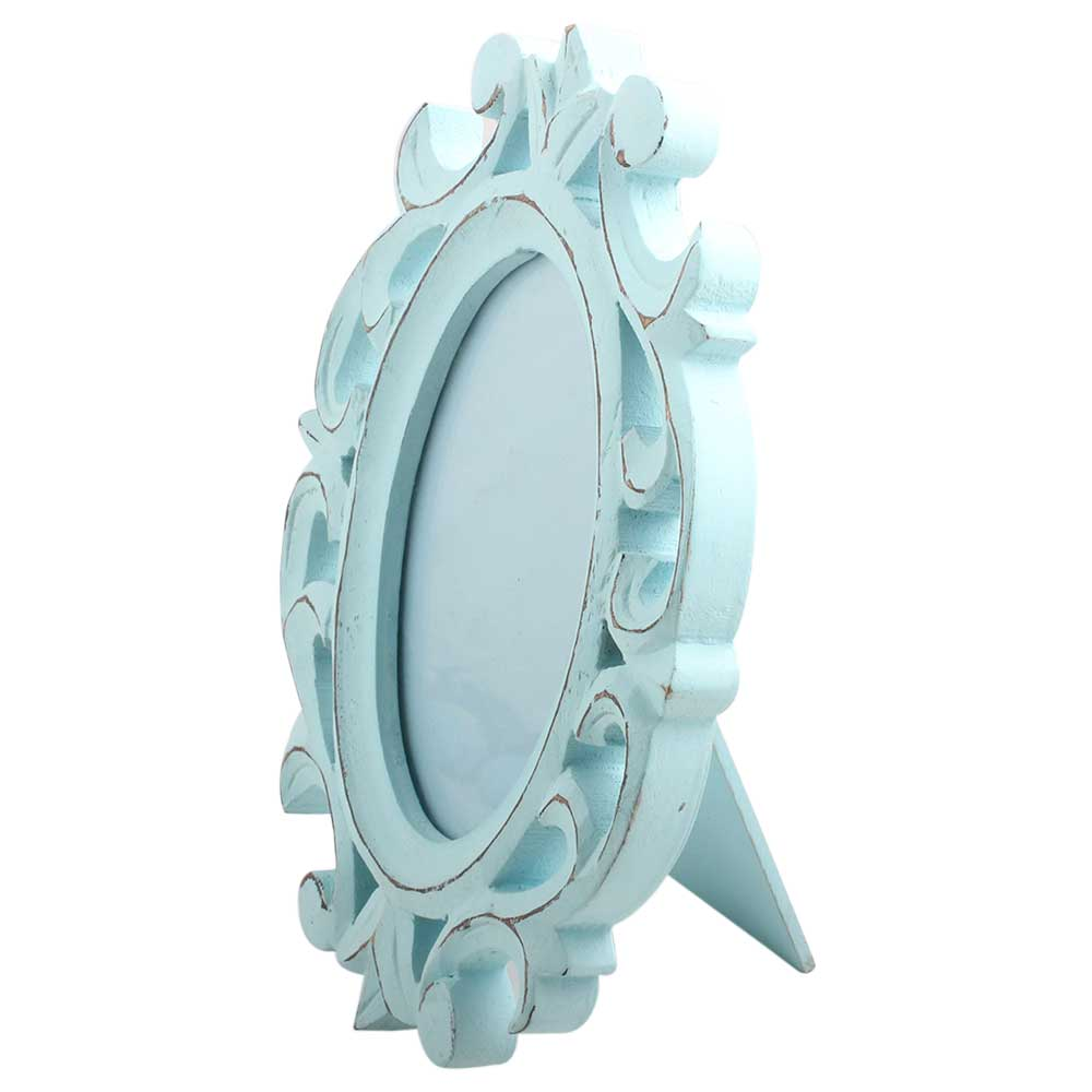 Turquoise Ovel Photo Frames