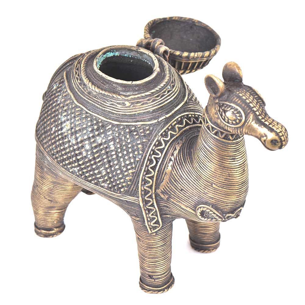 Bronze Camel Storage Box With A Lid