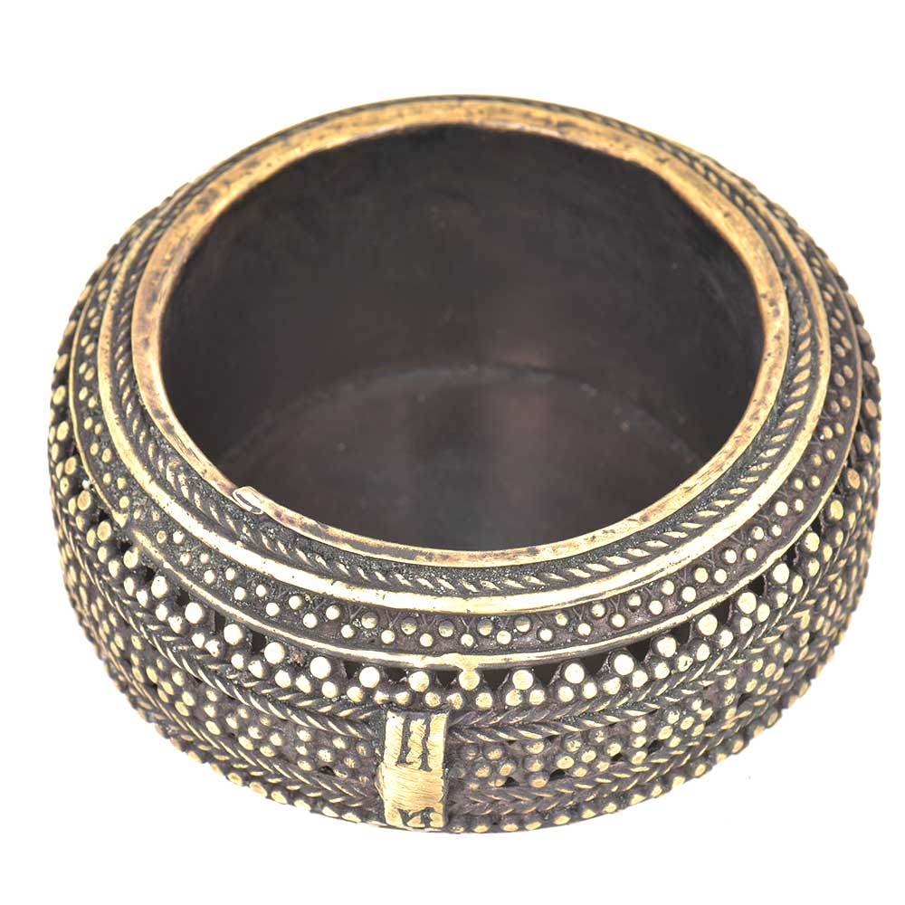 Bronze Circular Bronze Ashtray