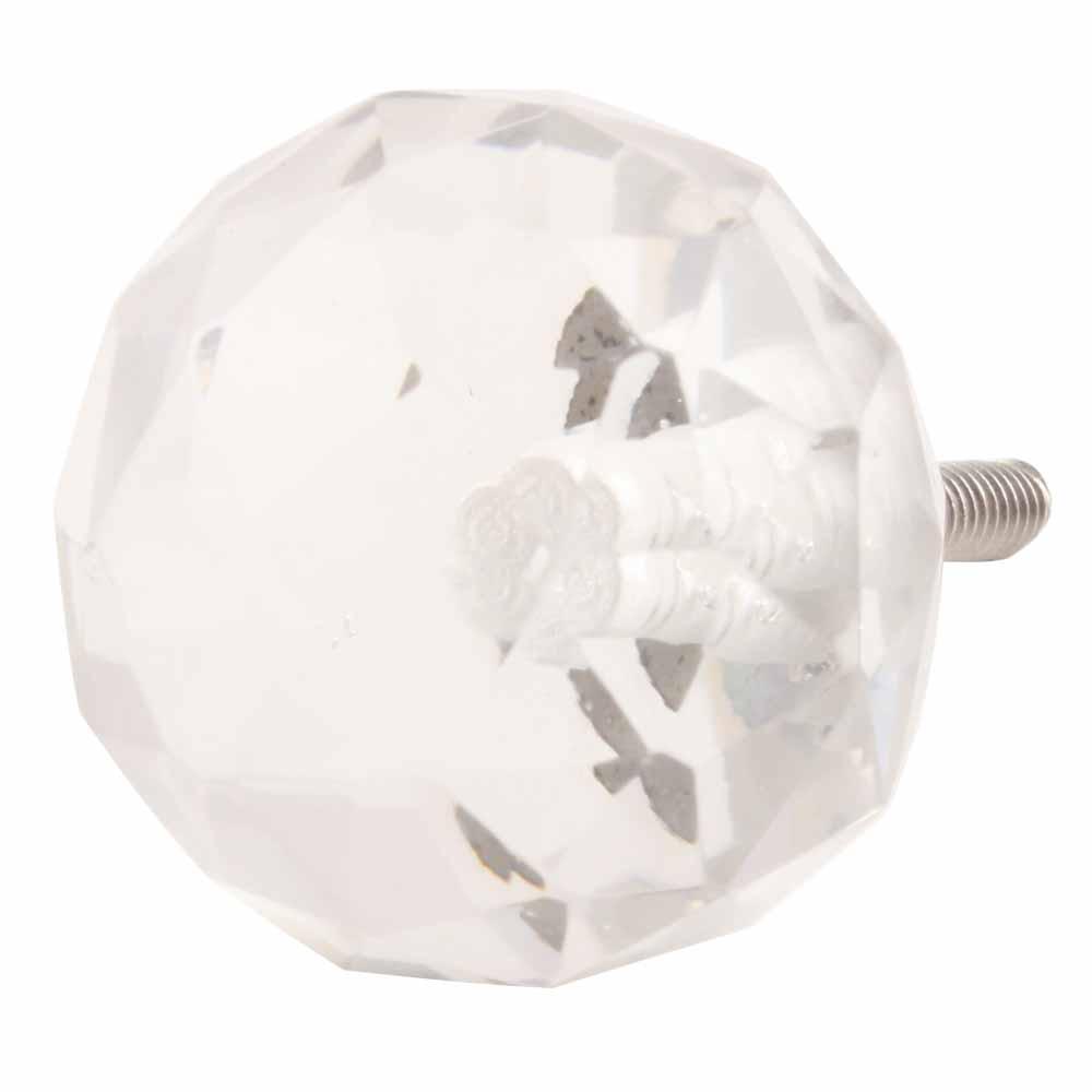 Round Diamond Cut Crystal Knob