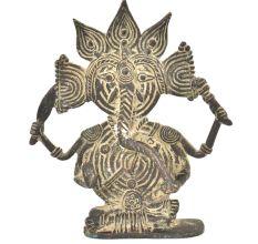 Bronze Ganesha Tribal Statue