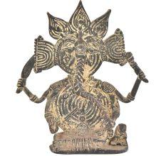 Bronze Tribal Chaturbhuja Ganesha Figurine