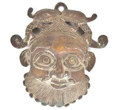 Bronze Man Face Mask Wall Hanging