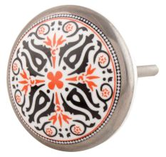 Orange And Black Ceramic Cabinet Knob Online