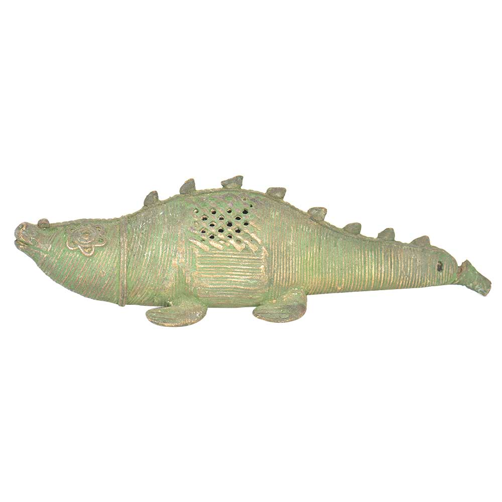 Bronze Patinated Crocodile Incense Holder