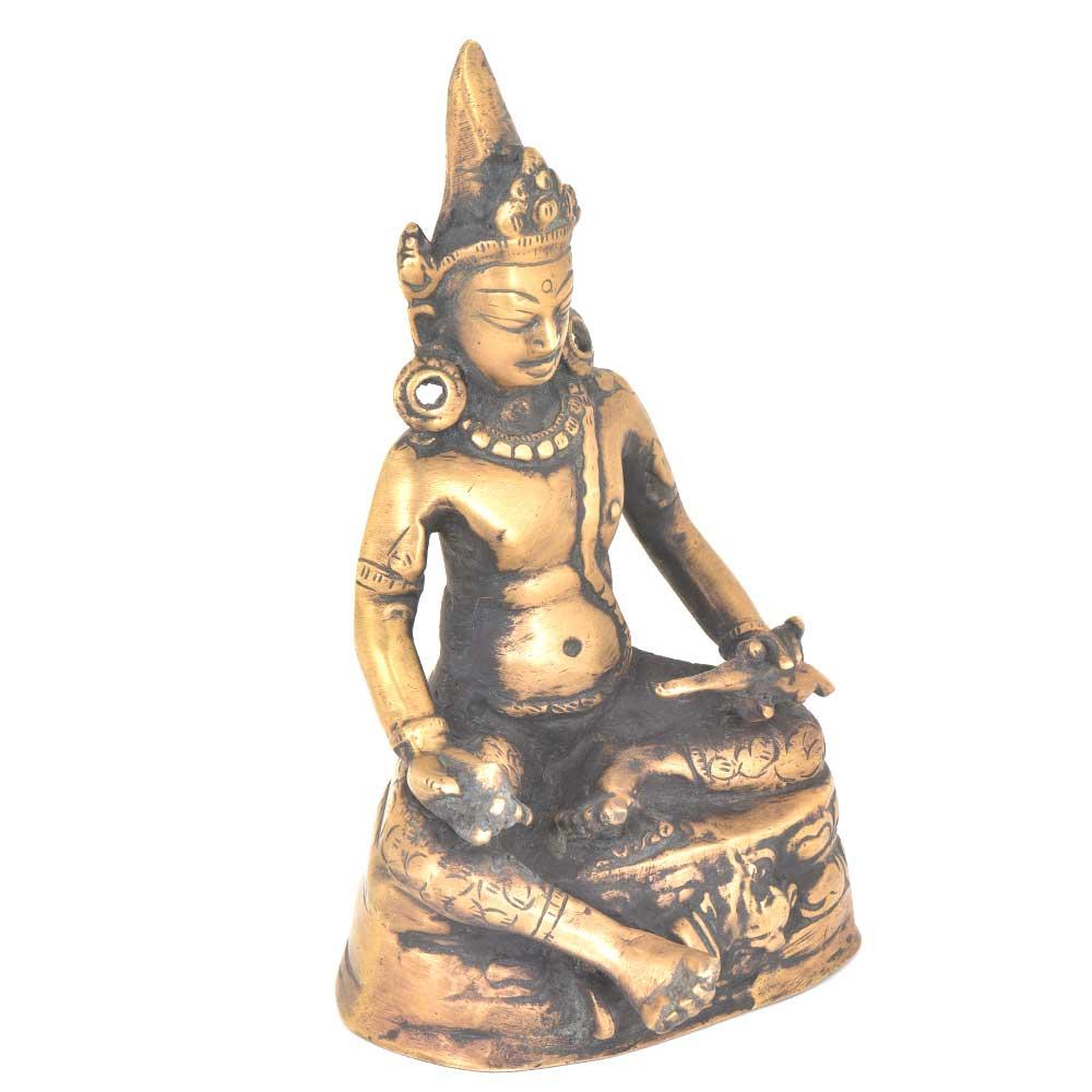 Old Tibetan Buddhism Buddhist Temple Bronze  Buddha Statue