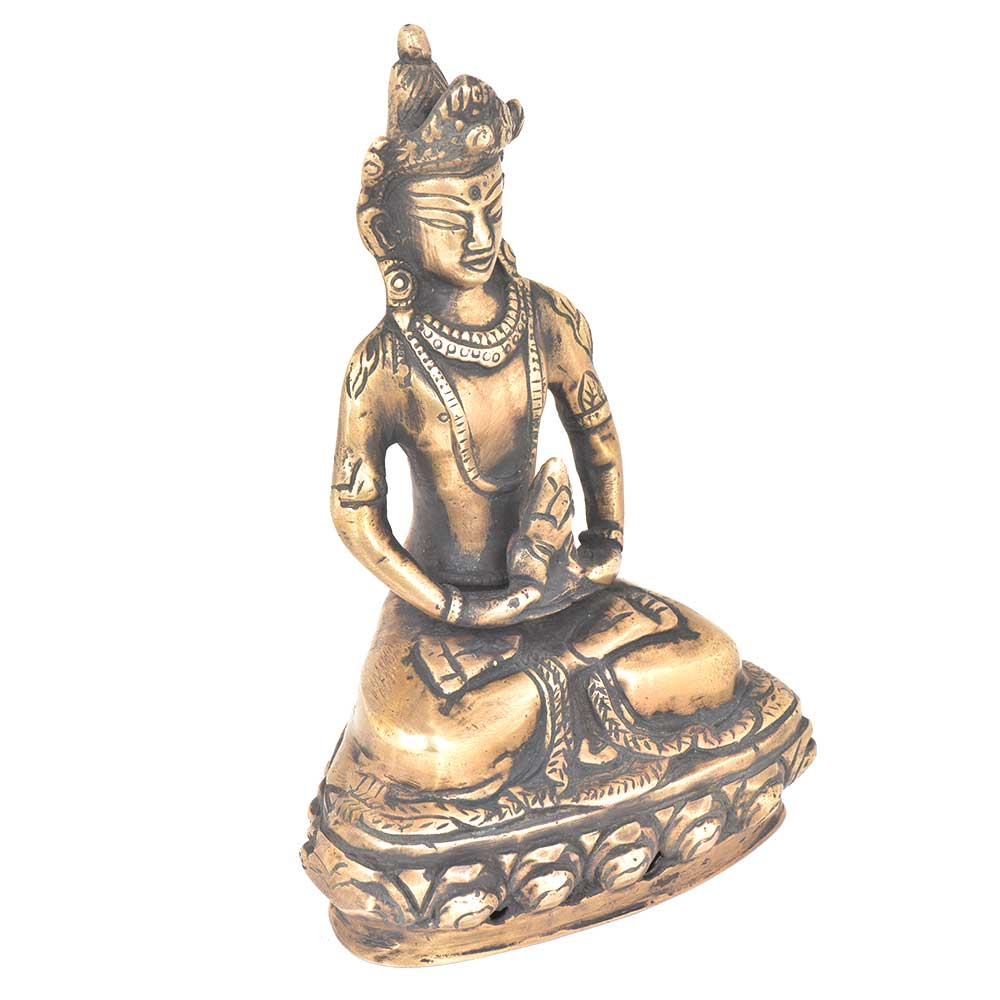 Brass Buddha Statue Deity Seated