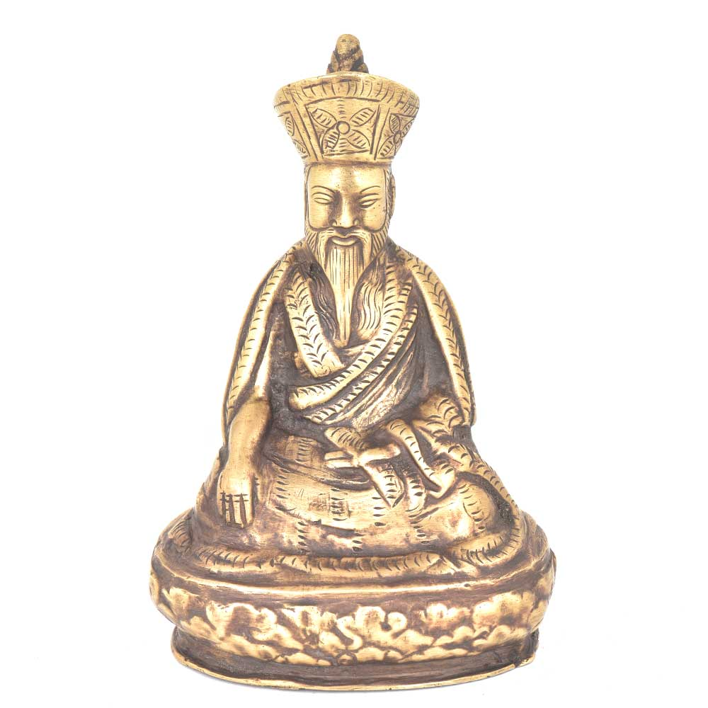 Bronze Wise Man in Meditation Statue