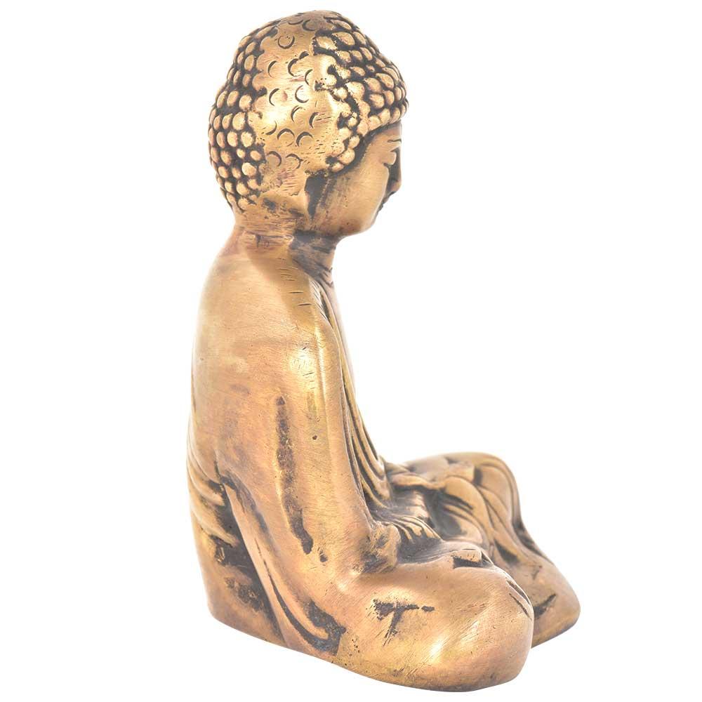 Brass Meditating Buddha Statue