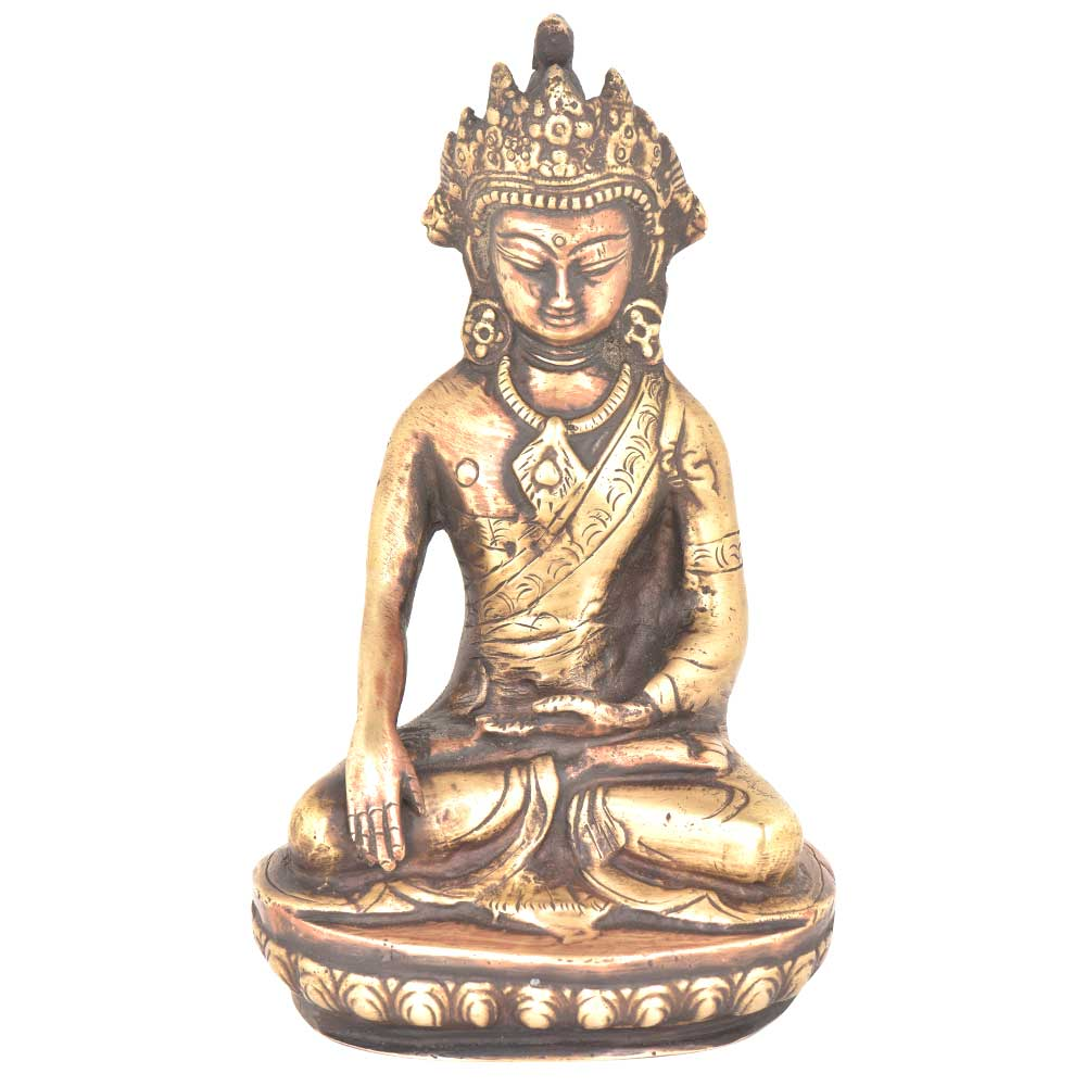Brass Compassion and Fearlessness Buddha Statue