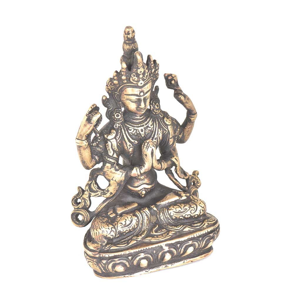 Bronze Avalokiteshvara Tibetan Lord With Four Hands