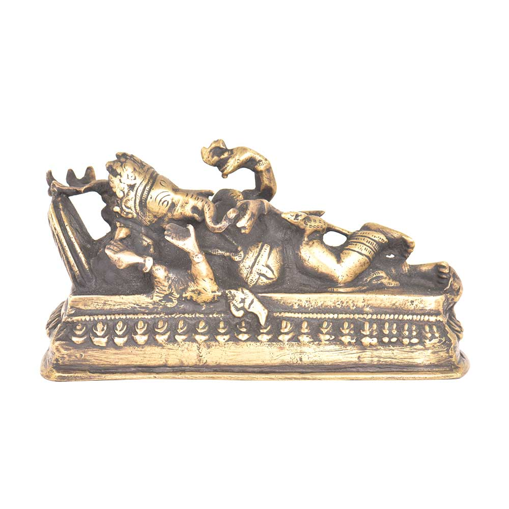 Sleeping Ganesha Statue In Brass