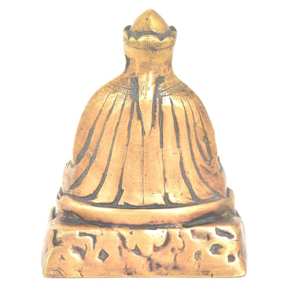 Tibetan Bronze Buddha StatueHolding Medicine Bowl