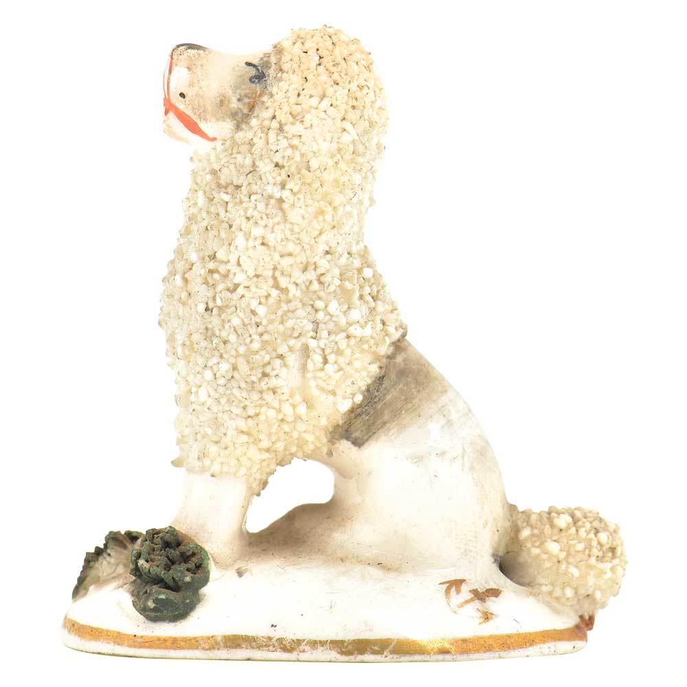 Miniature Porcelain Poodle Figurine