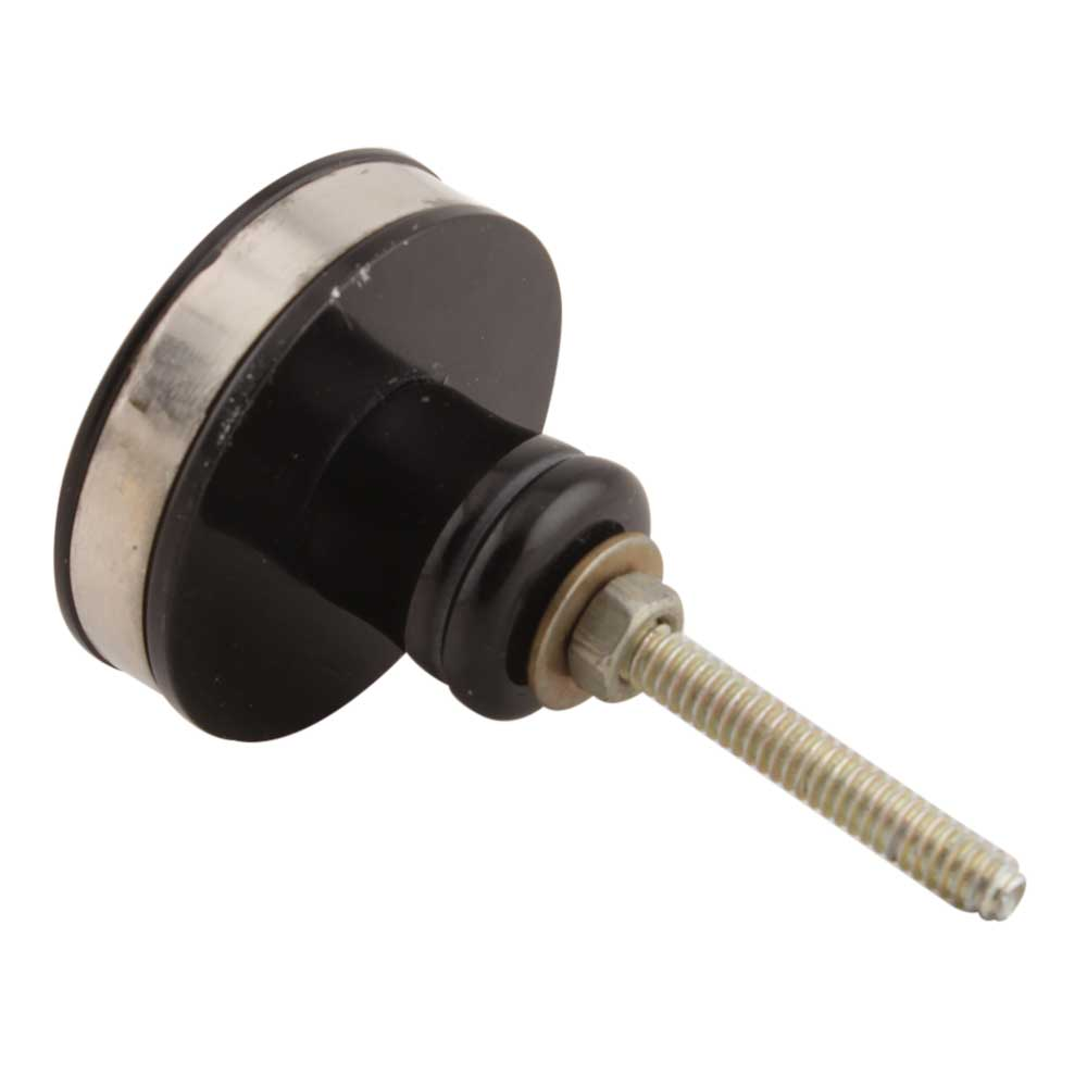 Black And Silver Brass Resin Cabinet Knob Online
