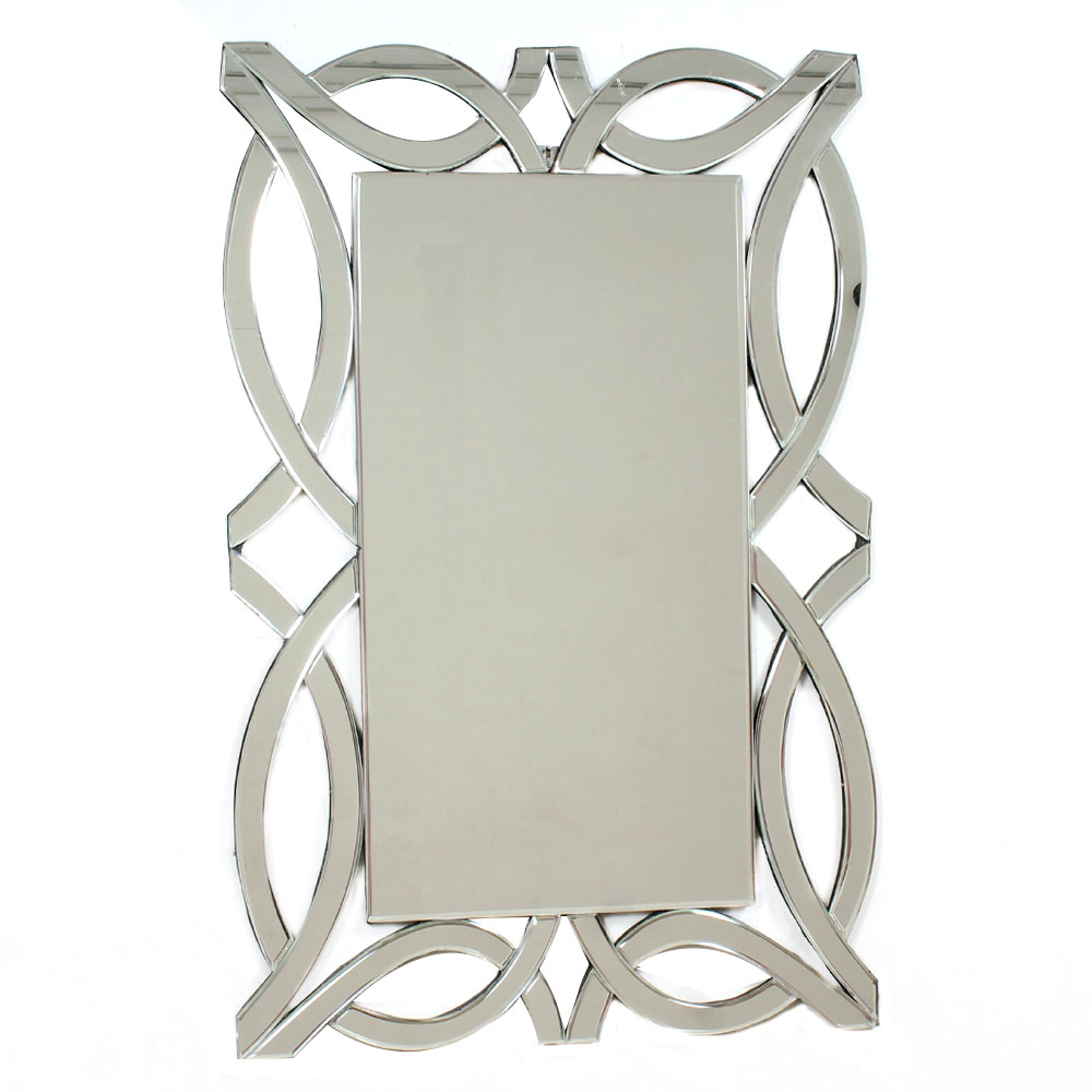 Rectangular Shaped Venetian Mirror With Unique Borders