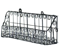 Wrought Iron Towel Rack Bathroom Rack Basket