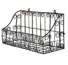 Metal Iron Single Shelf Decorative Wall Rack Basket