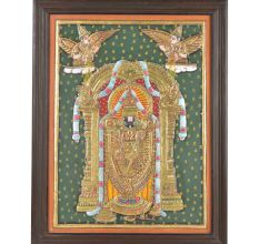 Balaji Tanjore Painting With Wooden Frame