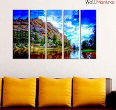 Mountain View Scenery Premium Quality Canvas Wall Hanging