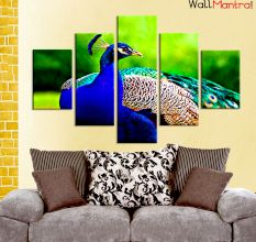 Peacock Premium Quality Canvas Wall Hanging