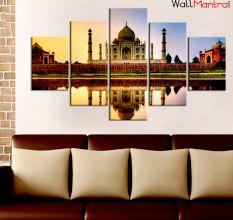 Taj Mahal Premium Quality Canvas Wall Hanging